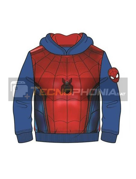 Sudadera Spider-man azul - roja 10 años