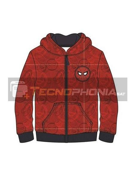 Sudadera Spider-man roja estampada 10 años