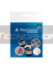 Pack de 6 chapas PlayStation