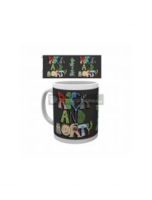 Taza cerámica 325ML Rick and Morty - Letras