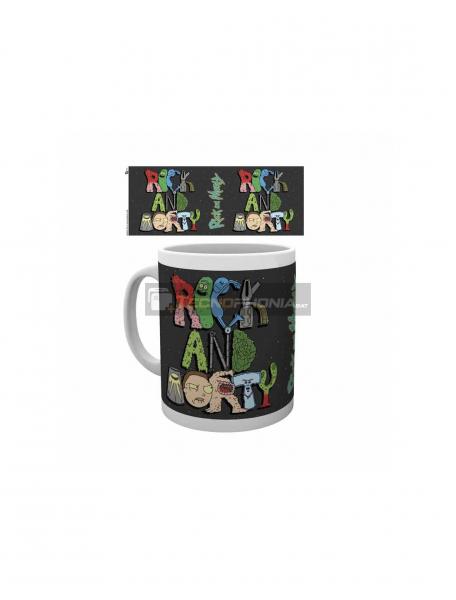 Taza cerámica 325ML Rick and Morty - Letras