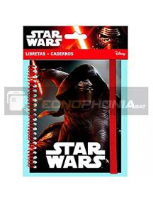 Cuaderno tamaño A5 Star Wars Episodio VII Kylo REN