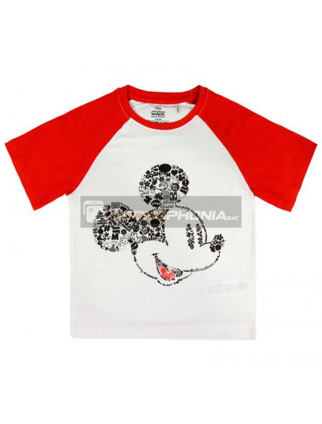 Camiseta Mickey Disney premium roja - blanca 3 años