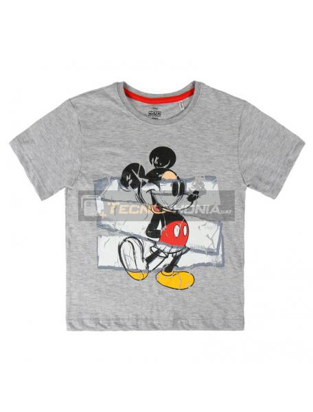 Camiseta Mickey Disney premium gris 5-6 años