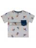 Camiseta Mickey Disney premium gris - azul 3 años