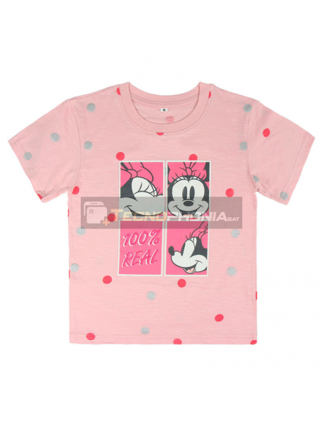 Camiseta Minnie Disney premium rosa lunares 2-3 años
