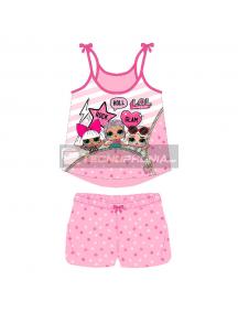 Pijama niña verano LOL Surprise - Rock Roll Glam 5 años