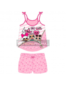 Pijama niña verano LOL Surprise - Rock Roll Glam 6 años
