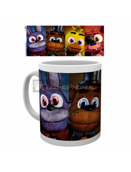 Taza cerámica 300ml Five Nights at Freddys - Faces