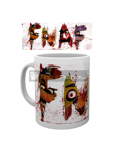 Taza cerámica 300ml Five Nights at Freddys - Letters