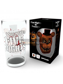Vaso de cristal 500ml Five Nights at Freddys - Fazbear