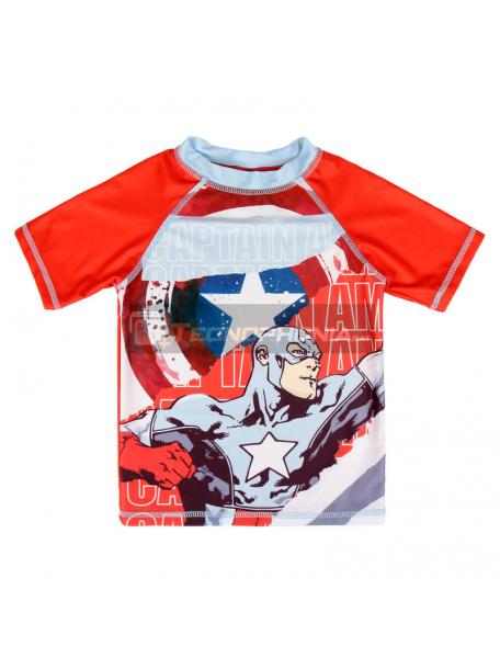 Camiseta niño lycra baño Marvel Los Vengadores Avengers - Capitán América Talla 3
