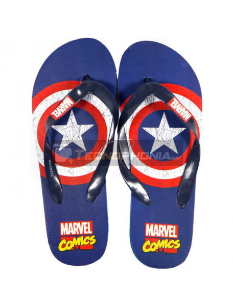 Chanclas adulto Marvel Cómics - Capitán América Talla 40 - 41