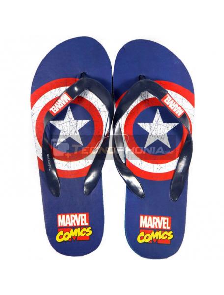 Chanclas adulto Marvel Cómics - Capitán América Talla 44 - 45