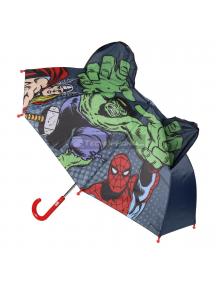 Paraguas Los Vengadores - Avengers Marvel 3D Hulk - Thor - Spider-man 42cm