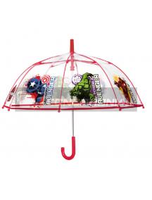 Paraguas Transparente Avengers Marvel Automatico 45cm