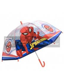 Paraguas Spiderman transparente 45cm