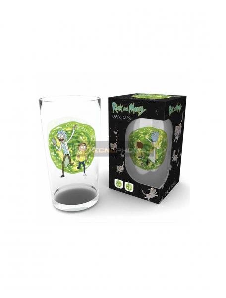 Vaso de cristal 500ml Rick and Morty