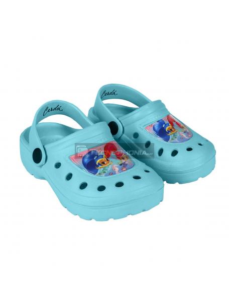 Zuecos infantil Shimmer and Shine azul cielo Talla 30 - 31