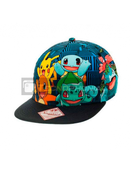 Gorra 4 Personajes Pokemon