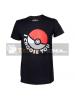 Camiseta manga corta Pokemon Pokeball negra Talla S