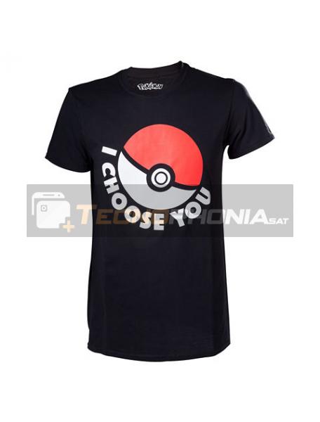Camiseta manga corta Pokemon Pokeball negra Talla L
