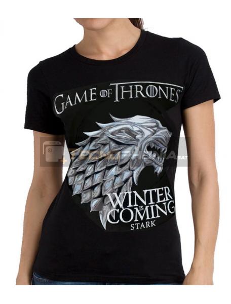 Camiseta adulto chica Juego De Tronos 'Stark' Talla XL