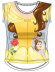 Camiseta algodon full print de Princesas - Bella y la Bestia Talla 2