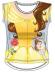 Camiseta algodon full print de Princesas - Bella y la Bestia Talla 6