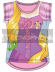 Camiseta algodon full print de Princesas - Rapunzel Talla 6