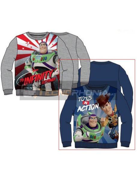 Sudadera Toy Story 4 - Buzz Lightyear y Woody 3 años azul