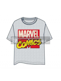 Camiseta adulto manga corta Marvel Comics gris Talla L