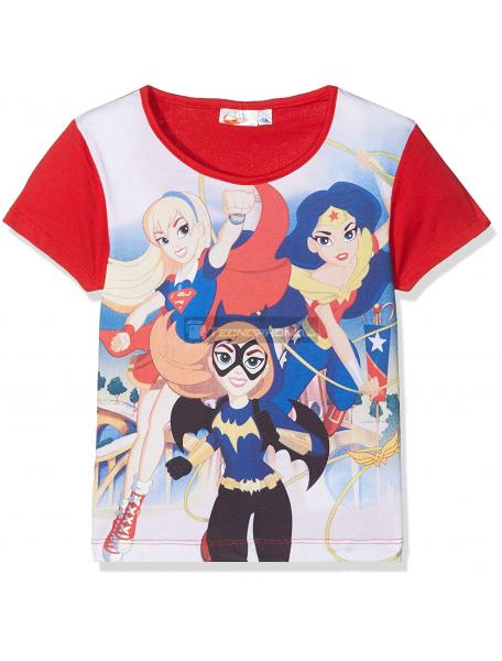Camiseta niña manga corta Super Hero Girls 8 años