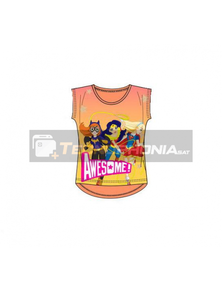 Camiseta niña manga corta Super Hero Girls - Awesome 10 años