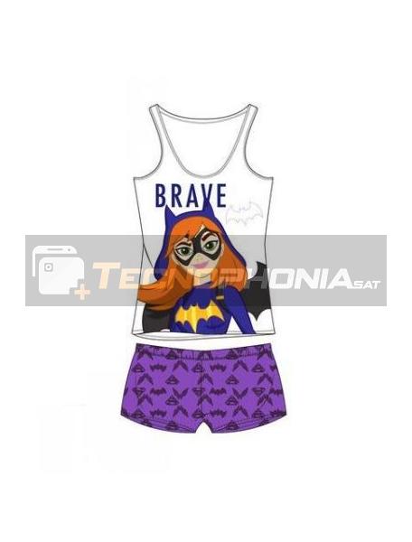 Pijama niña verano Super Hero Girls - Batgirl Brave 10 años