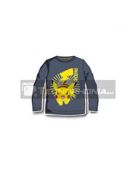Camiseta infantil manga larga Pokemon - Pikachu 6 años