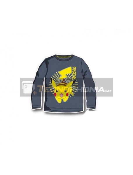 Camiseta infantil manga larga Pokemon - Pikachu 8 años