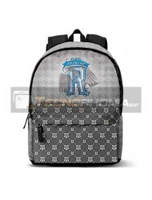 Mochila Hayy Potter - Emblem gris - azul 43cm