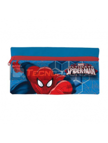 Estuche portatodo plano Spider-man azul