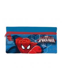 Estuche portatodo plano Spiderman azul