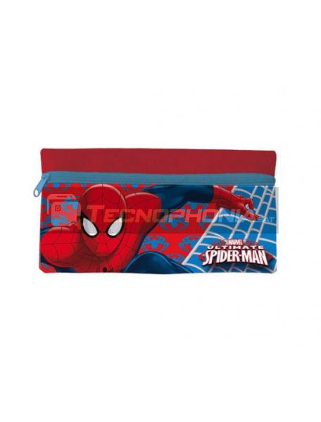 Estuche portatodo plano Spiderman rojo