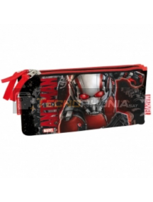 Estuche portatodo Ant-Man triple cremallera 22x10x3,5cm