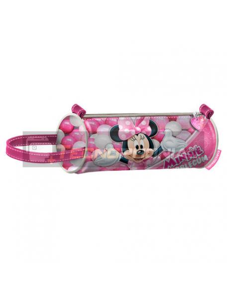 Estuche portatodo cilíndrico Minnie Mouse 22x9cm