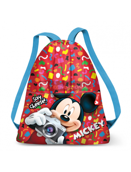 Saco mochila Mickey 33x27cm