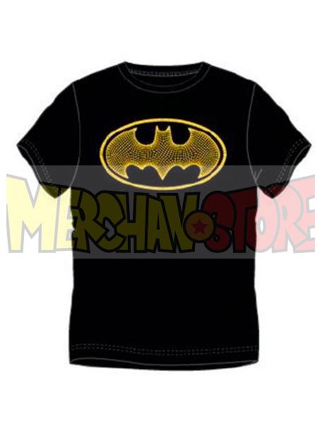 Camiseta adulto manga corta Batman - Logo negra - amarilla Talla S