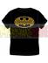 Camiseta adulto manga corta Batman - Logo negra - amarilla Talla M