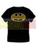 Camiseta adulto manga corta Batman - Logo negra - amarilla Talla L