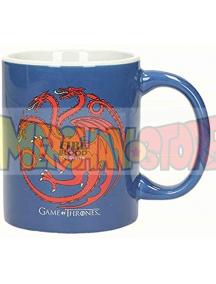 Taza cerámica Juego de Tronos - Targaryen azul - blanca