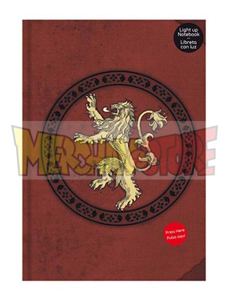 Libreta Premium con luz Juego de Tronos - Lannister