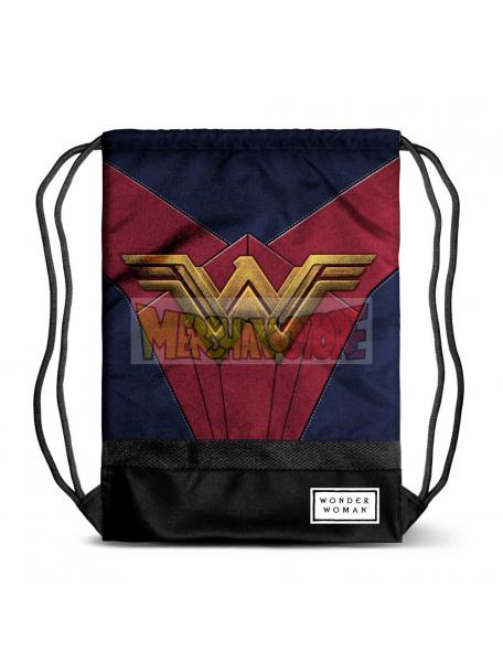 Saco Mochila Wonder Woman - Emblem 48x35x1cm
